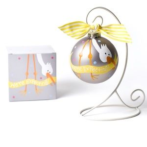 NWT We're Expecting a Glass Ornament | Baby Shower